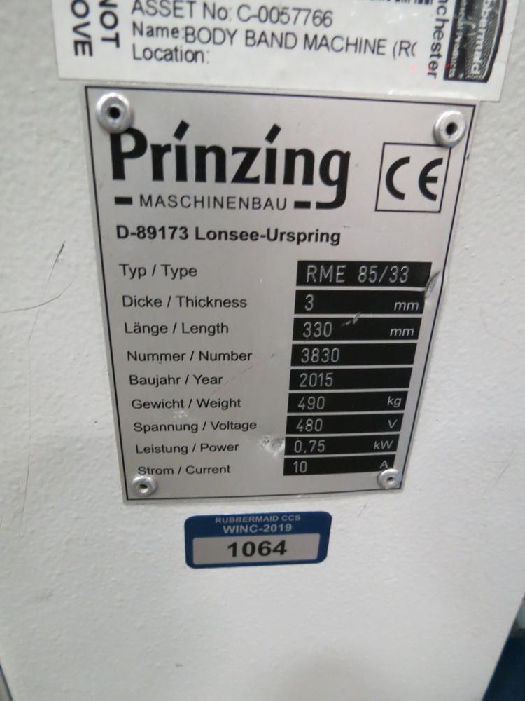 "2015 Prinzing Model RME85/33 Approx. 11.5"" Round 4-Roll Bender w/ Eaton Digital Controls - Image 4 of 11"