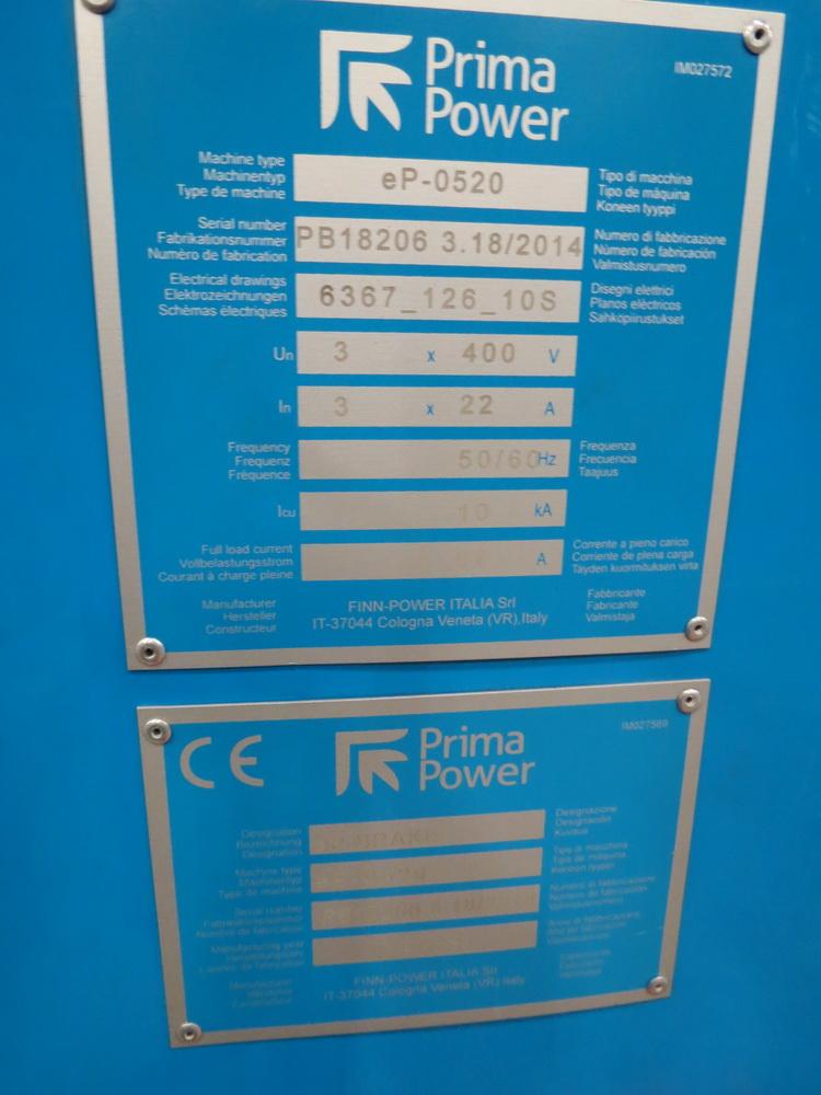 2014 Prima EP0520 2 Meter Electric Servo Press Brake - Image 9 of 15