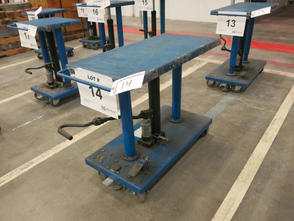 "2015 Hydraulic Die Lift Cart, 1000 Lb Cap. 18"" x 36"""