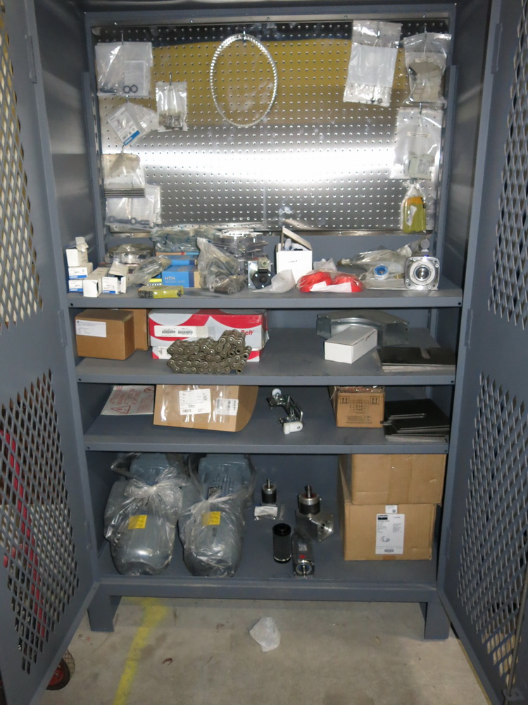 Lot 87 - Sideros Parts: Heavy Duty 2-Door Metal Cabinet w/ Siberos Spare Parts for Use w/ Lot 72 and 73