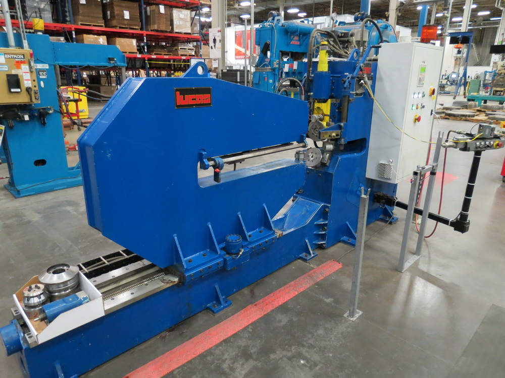 "2014 Lucas Model 6-1800 Shear and Beading Machine, 70"" max. diameter - Image 4 of 13"