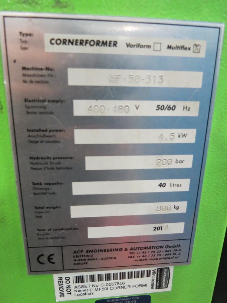 2014 ACF Engineering Model MF-50-313 Corner Former/Shear w/ Panelware Digital Controls - Image 8 of 11
