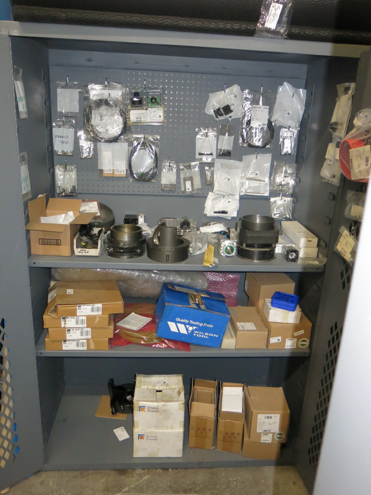 Lot 84 - Prima Parts: 2-Door Metal Cabinet w/ SGE Spare Parts and PSR Spare Parts for Use w/ Lot 69