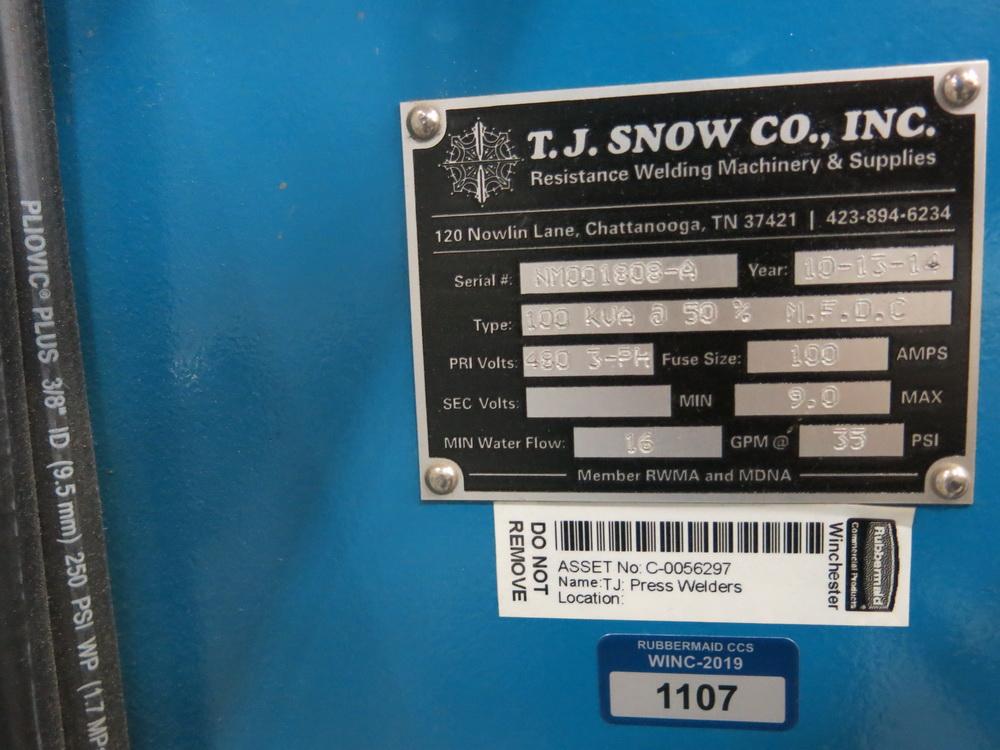 2014 TJ Snow 100 KVA @ 50 Percent M.F.D.C. Dual Head Spot Welder - Image 3 of 3