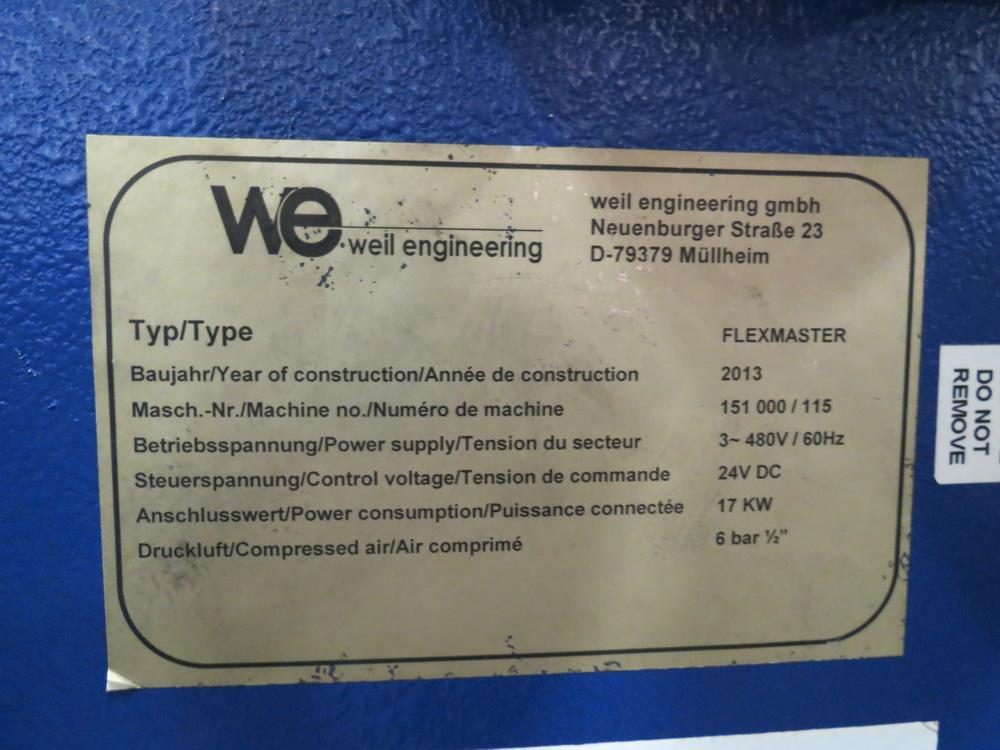 2014 Weil Technology Flexmaster 400/1250 Seam Welding Machine - Image 17 of 20