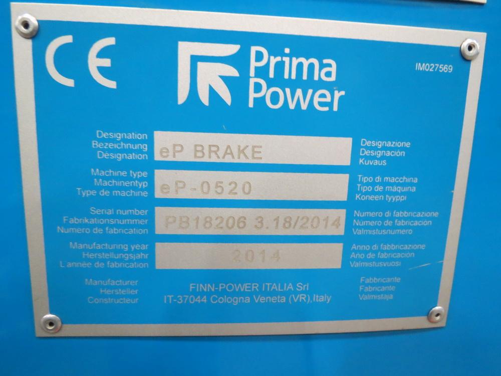 2014 Prima EP0520 2 Meter Electric Servo Press Brake - Image 10 of 15