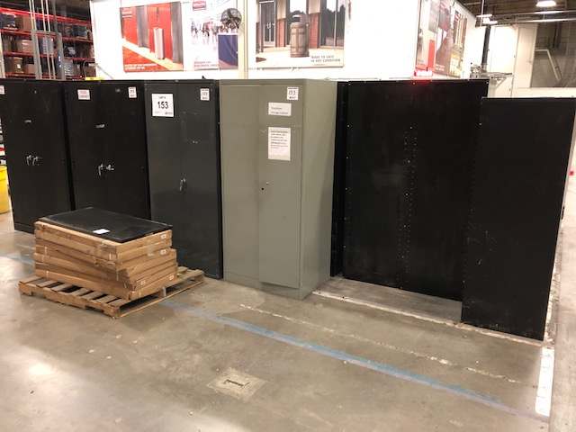 Lot 153 - (6) Global Two Door Metal Storage Cabinets
