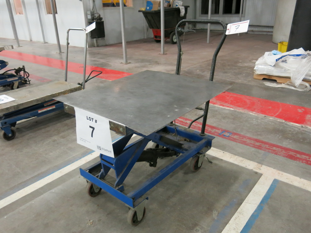 Lift Table, 1100 lb Cap. Steel Topped Die Lift Cart