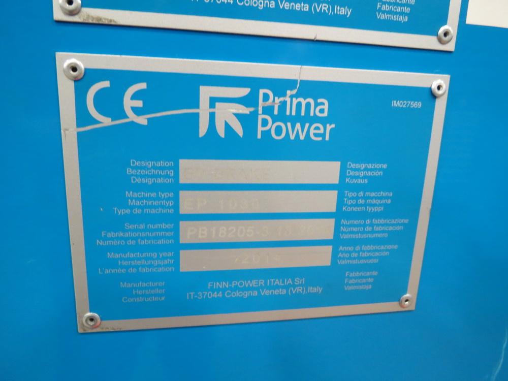 2014 Prima EP1030 3 Meter Electric Servo Press Brake - Image 9 of 13