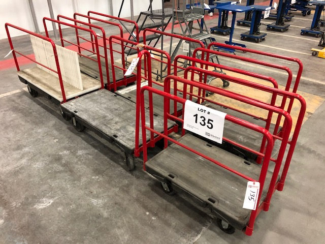 Lot 135 - (6) Rubbermaid Commercial Material Carts