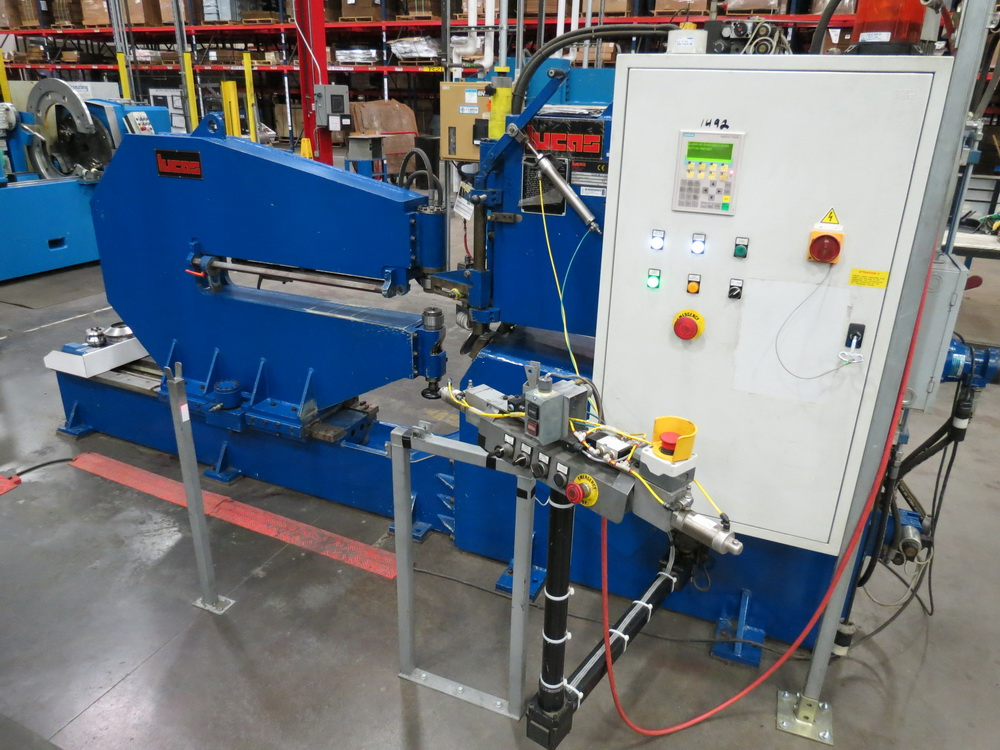 "2014 Lucas Model 6-1800 Shear and Beading Machine, 70"" max. diameter - Image 2 of 13"