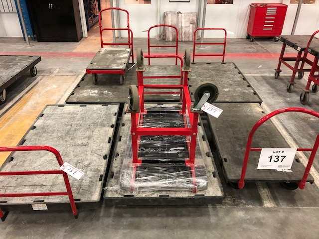 Lot 137 - (8) Rubbermaid Commercial Flat Bed Carts