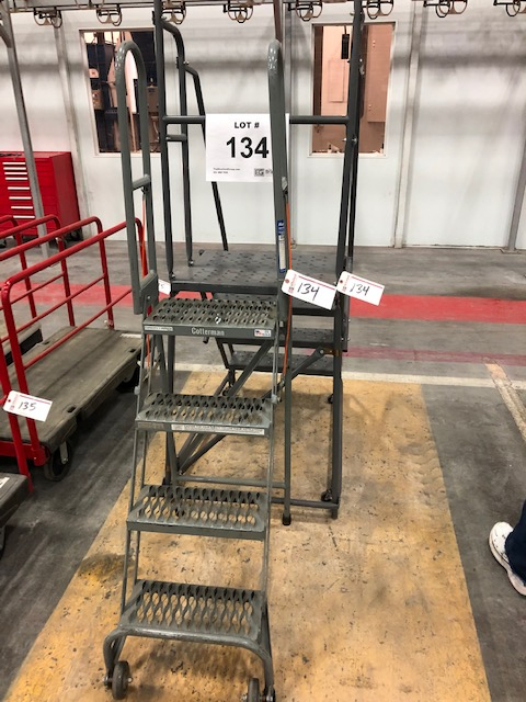 Lot 134 - (2) Portable Staircases