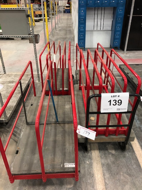 Lot 139 - (4) Rubbermaid Commercial Material Carts