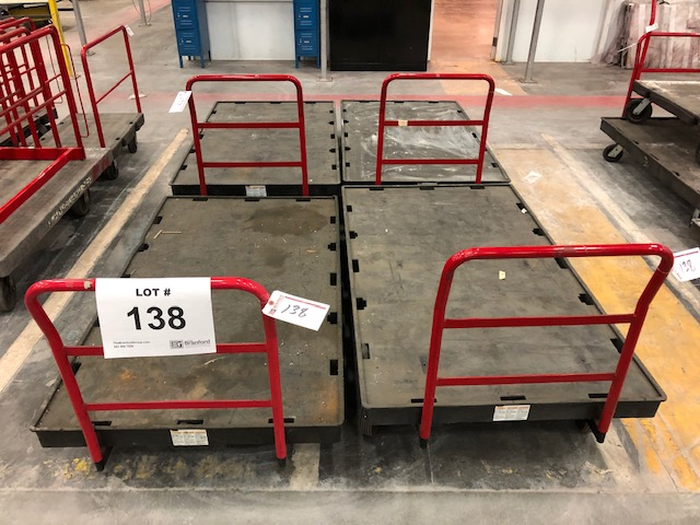 Lot 138 - (4) Rubbermaid Commercial Flat Bed Carts