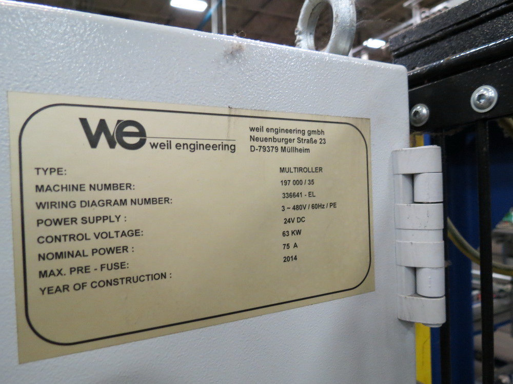 2014 Weil Technology NC Multi-roller 600/1250C Bending Machine - Image 16 of 25