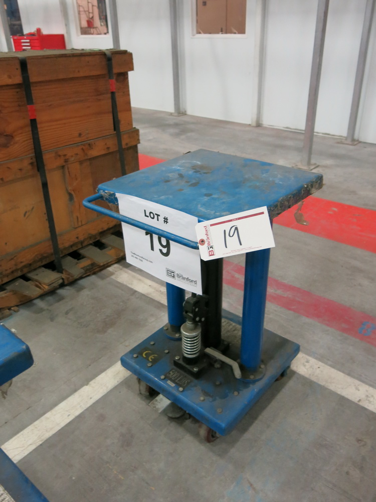 "2014 Hydraulic Die Lift Cart, 500 Lb Cap. 18"" x 18"""