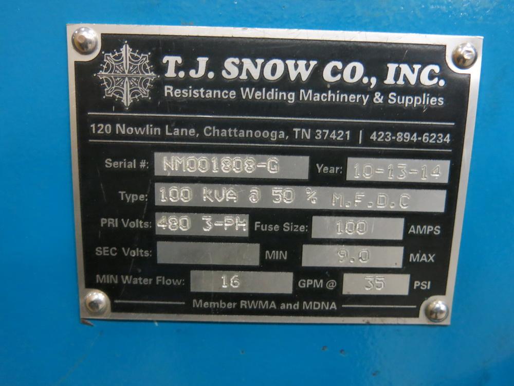 2014 T.J. Snow 100 KVA @ 50 Percent M.F.D.C. Dual Head Spot Welder - Image 3 of 3