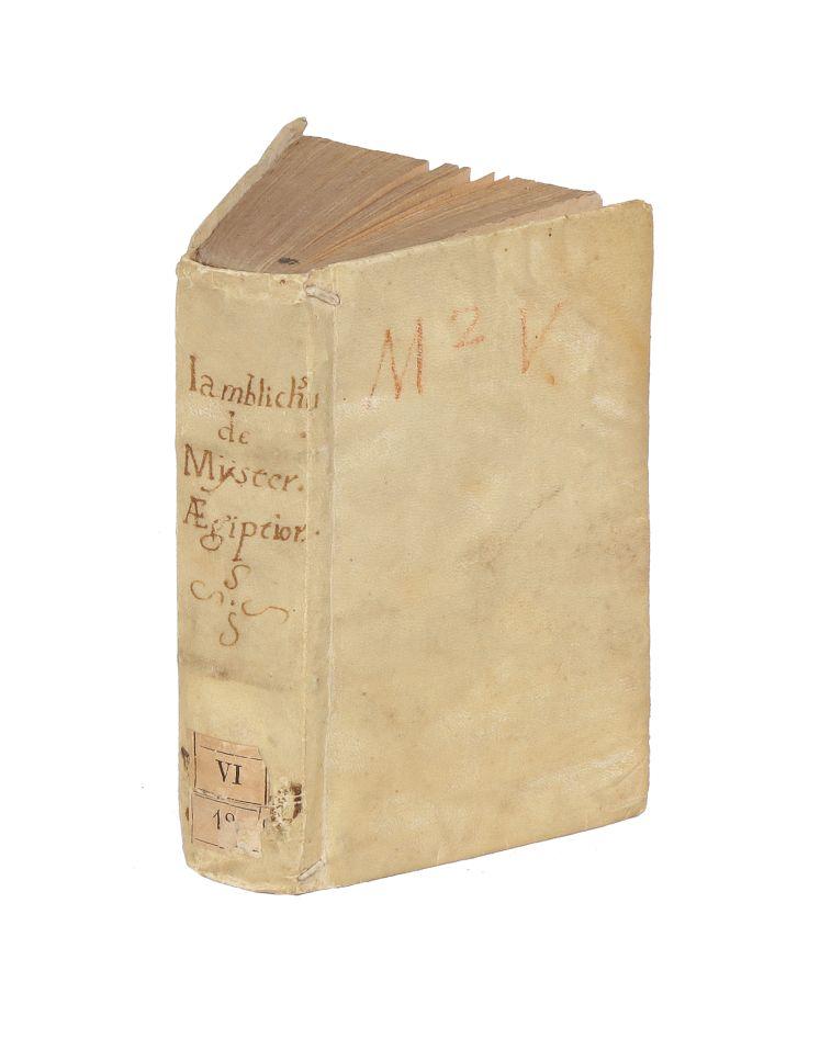 Lot 453 - Iamblichus, 1577. De mysteriis Aegyptiorum, Chaldæorum, Assyriorum. Lugduni: Apud Ioan. Tornaesium,