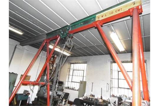 Small A-Frame Lifting Gantry with Manual Chain Hoist (SWL 10 CWT