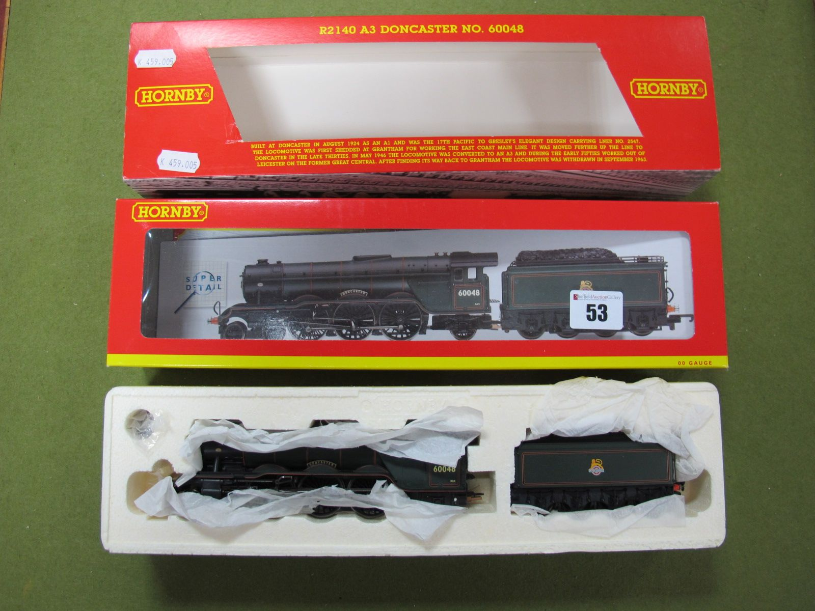 Lot 53 - A Hornby 'OO' No. 2140 BR 4-6-2 A3 Class Locomotive 'Doncaster', with certificate:- Boxed