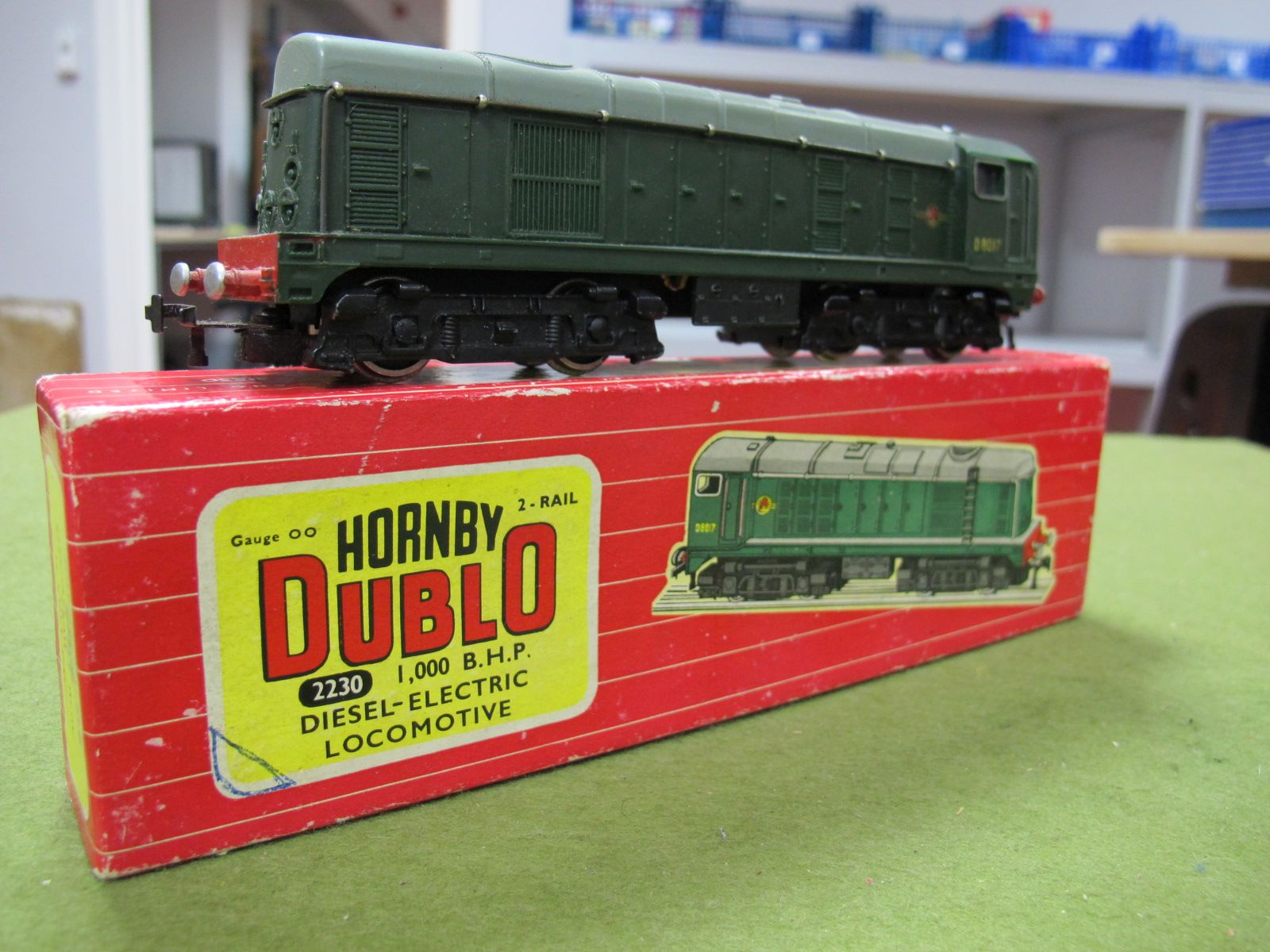 Lot 47 - A Hornby Dublo Two Rail No. 2230 1,000 BHP Diesel Electric Locomotive R/No. D817, very good:- Boxed