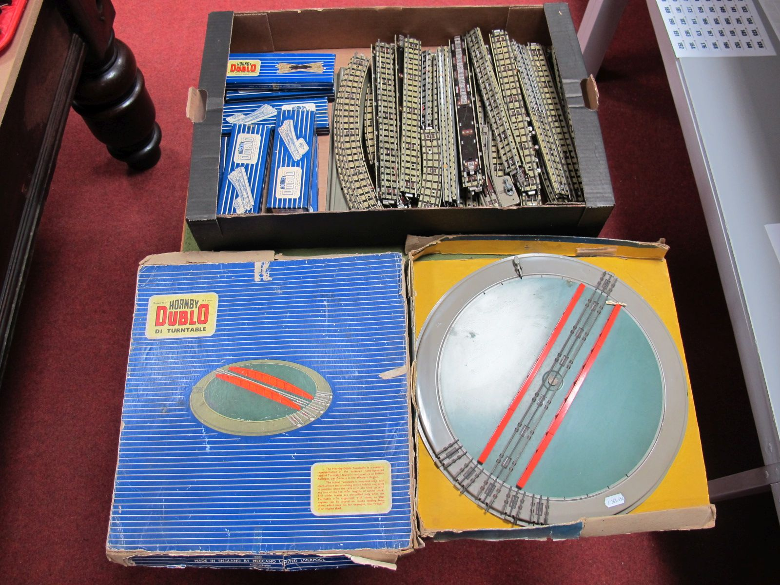 Lot 2 - A Small Quantity of Hornby Dublo Three Rail Track, including straights, curves, isolating switch