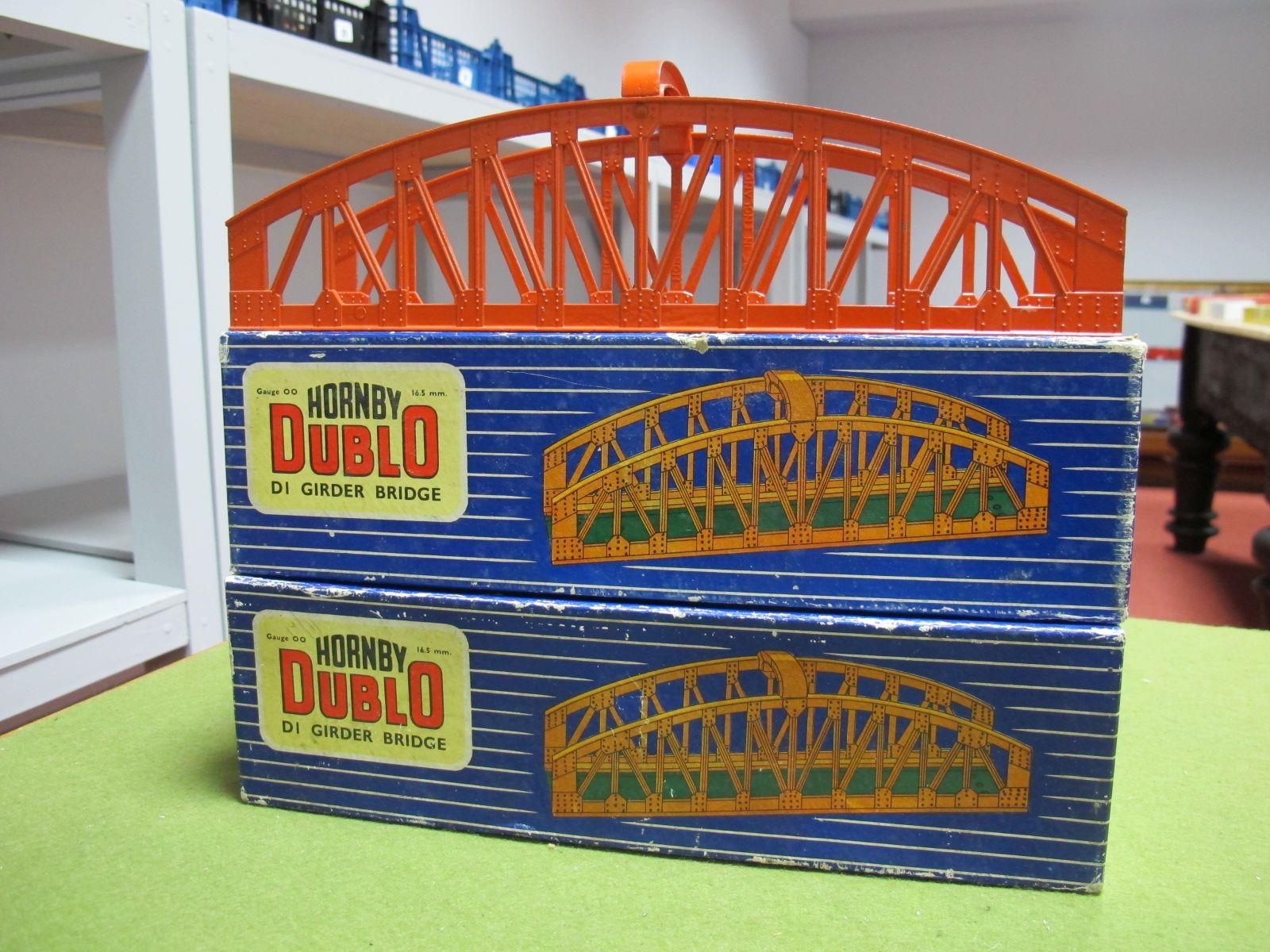 Lot 41 - Two Boxed Hornby Dublo DI Girder Bridges, overall good plus.