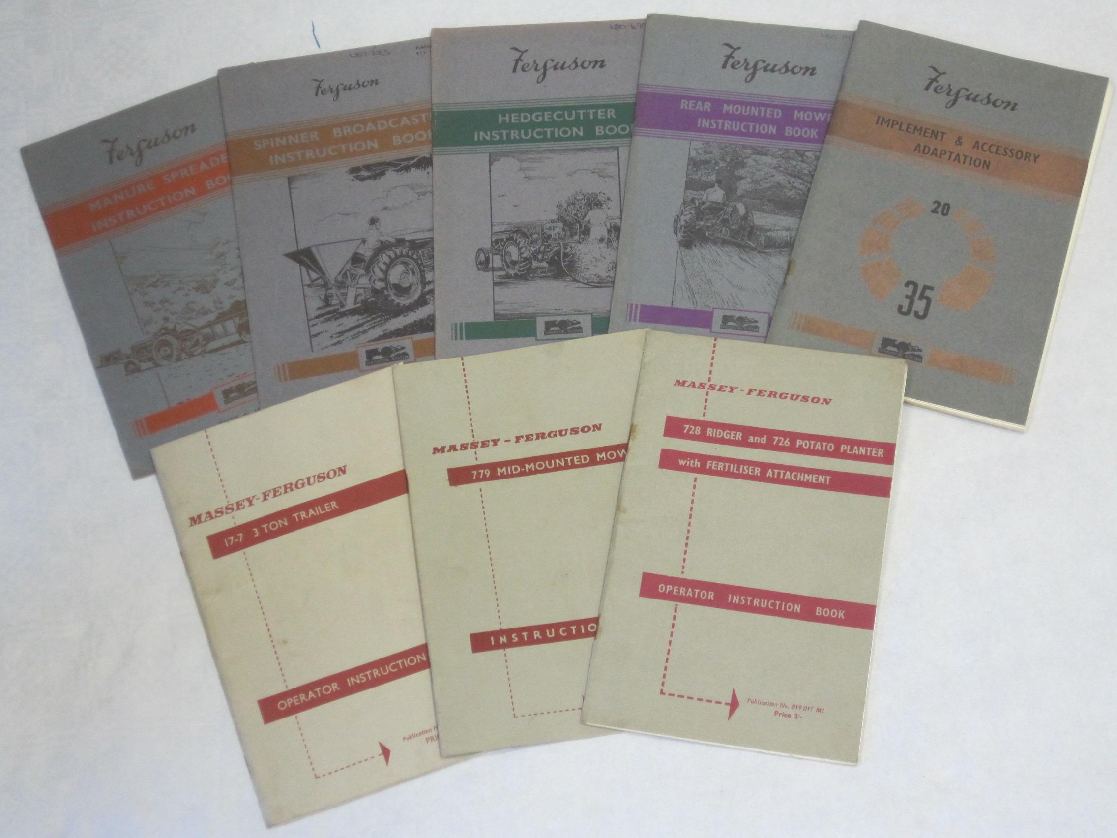 Ferguson 35 Instruction Book ................................. Original Manual Massey Ferguson