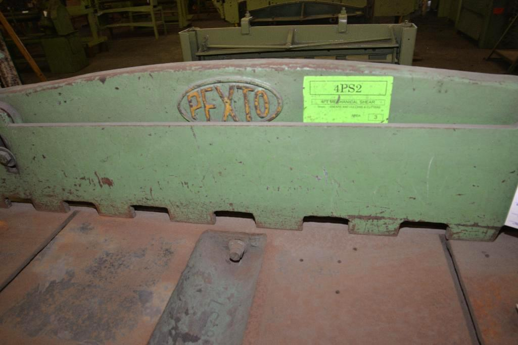 Lot 36 - PEXTO FOOT SHEAR - 4 FT. - 4PS2 - NO. 223 S/N 31926- MADE BY PECK, STOW & WILCOX, USA