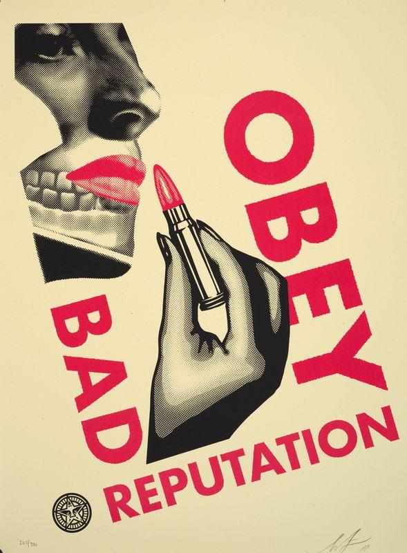 Los 7 - Shepard FAIREY (1960) - Bad Reputation white, 2019 -Sérigraphie signée et datée en [...]