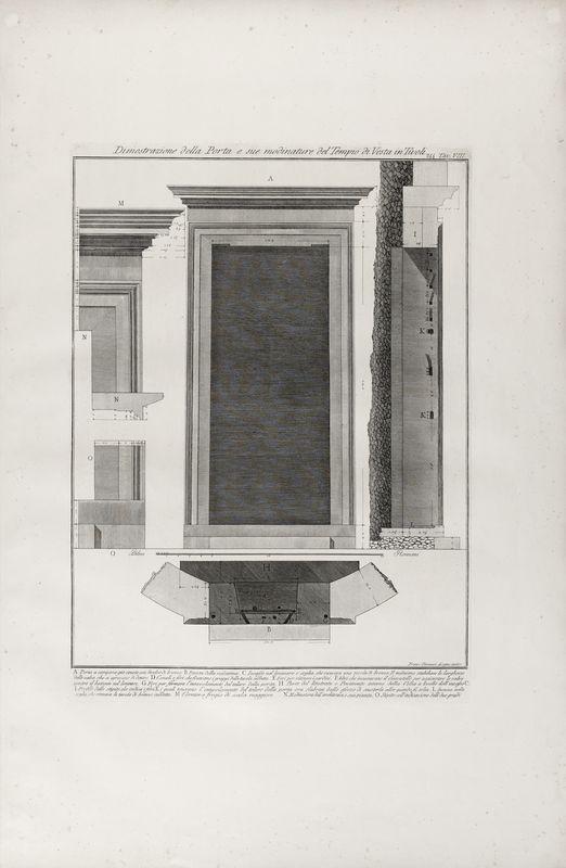 Los 39 - Giovanni Battista PIRANESI (1720-1778) - Dimostrazione della porta e sue modinature [...]