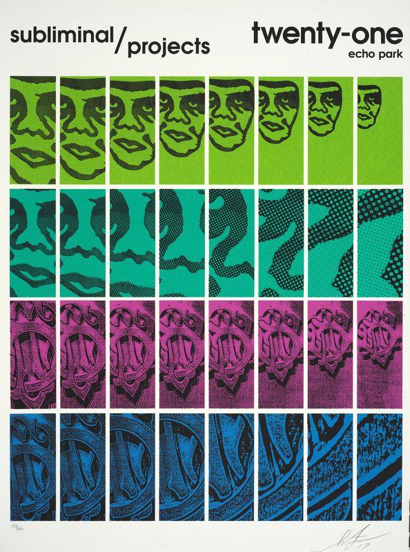 Los 17 - Shepard FAIREY (1960) - Subliminal projects, Twenty one Echo Park , 2017 - [...]