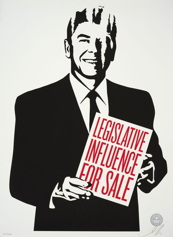 Los 9 - Shepard FAIREY (1960) - Legislative influence for sale, 2011 - Sérigraphie signée [...]