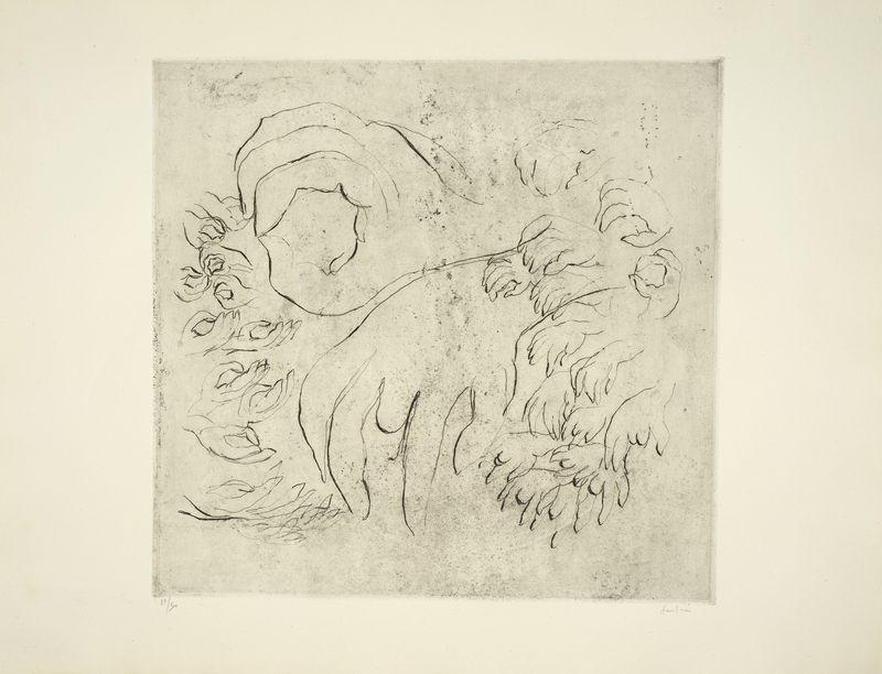 Los 35 - Jean FAUTRIER (1898-1964) - Etude de mains, 1942 - Héliogravure, eau forte et [...]
