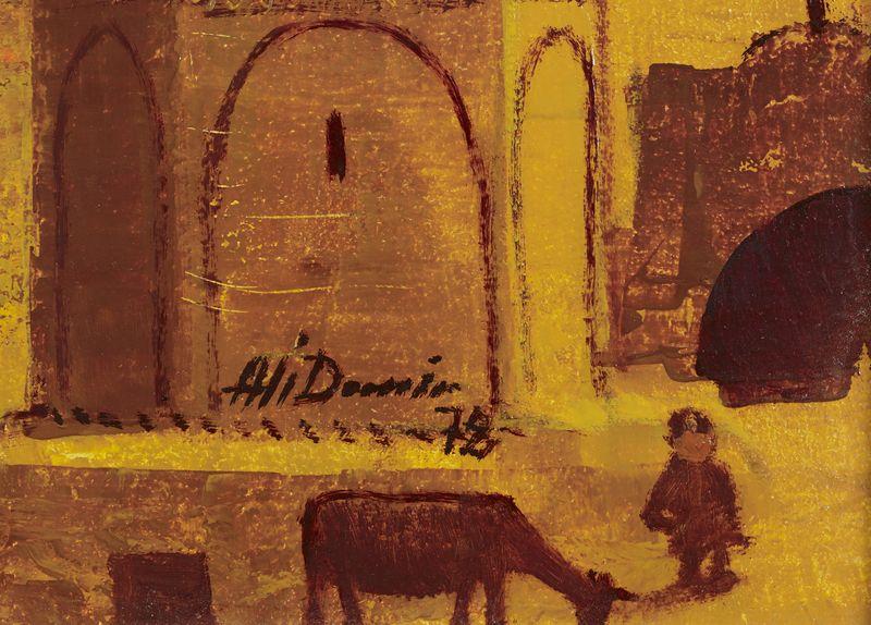 Los 60 - Ali DEMIR (1931-2015) - Ville imaginaire- Huile sur carton toilé signée et datée [...]
