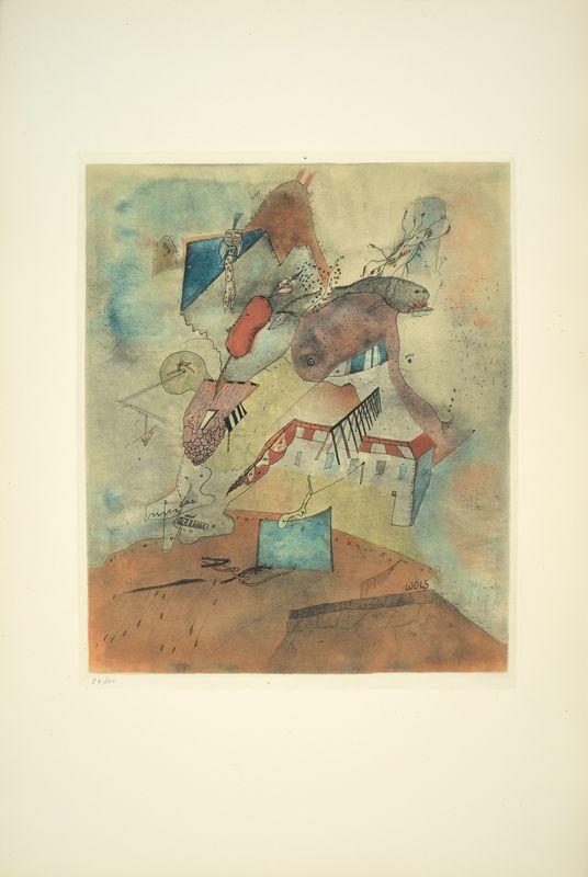 Los 31 - Otto WOLS (1913 - 1951) - Le Camp les Milles, 1940 - Gravure en couleurs sur papier [...]