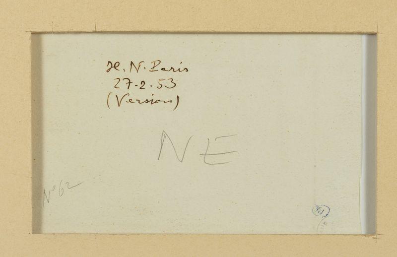 Los 45 - Henri NOUVEAU (1901-1959) - Version - Huile sur papier monogrammée, située Paris et [...]
