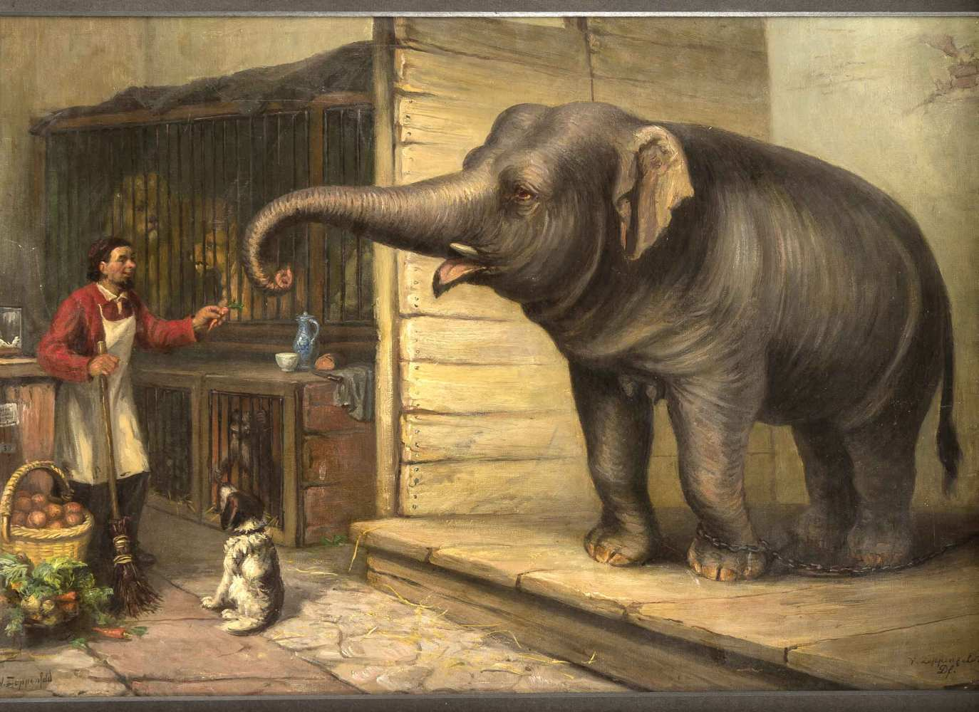 Los 1326 - Victor Zeppenfeld (1834-1883), Genremaler der Düsseldorfer Schule, hinter den Kulisseneines...