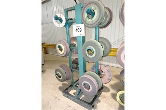 3-Tier Double Sided Castered Grinding Wheel Storage Rack w/ Associated Grinding Wheels  sc 1 st  Bidspotter.com & 3-Tier Double Sided Castered Grinding Wheel Storage Rack w ...