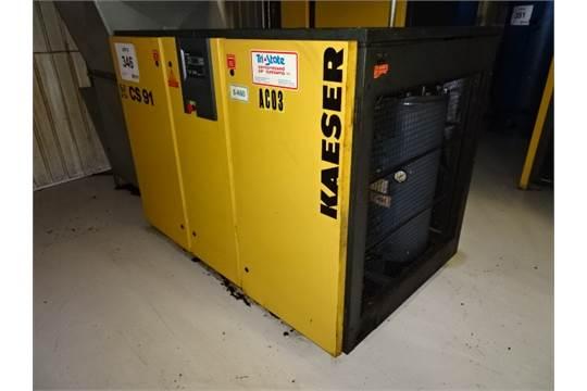1998 kaeser cs 91 75 hp rotary screw air compressor total hours rh bidspotter com Kaeser Air Compressor Kaeser Air Dryer Manual
