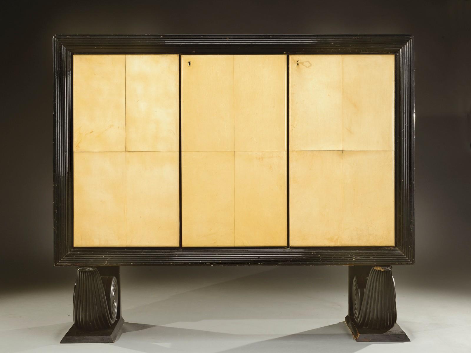 Travail italien 1940 meuble de rangement caisson - Caisson de rangement en bois ...