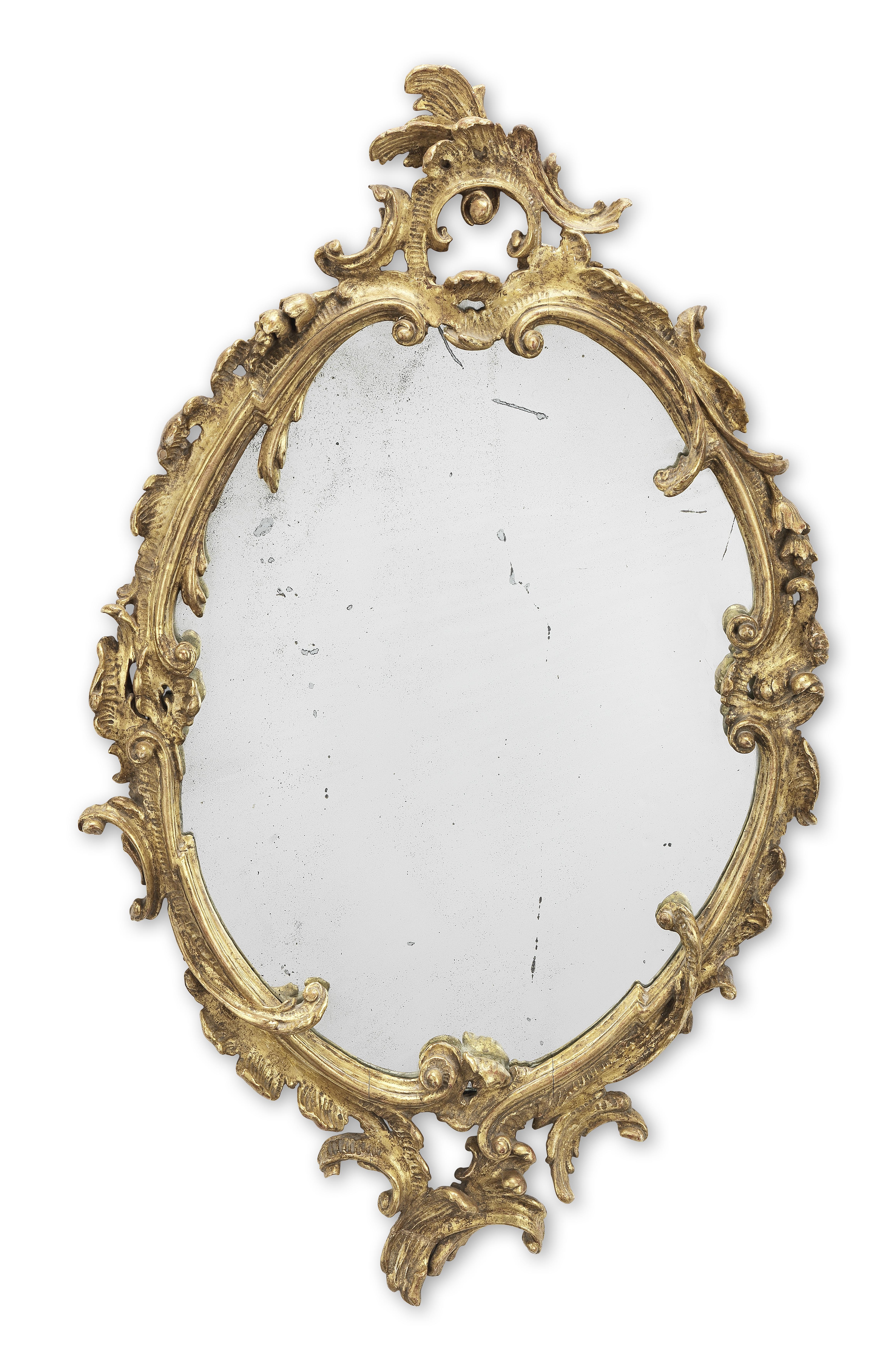 A 19th century Rococo revival giltwood mirror