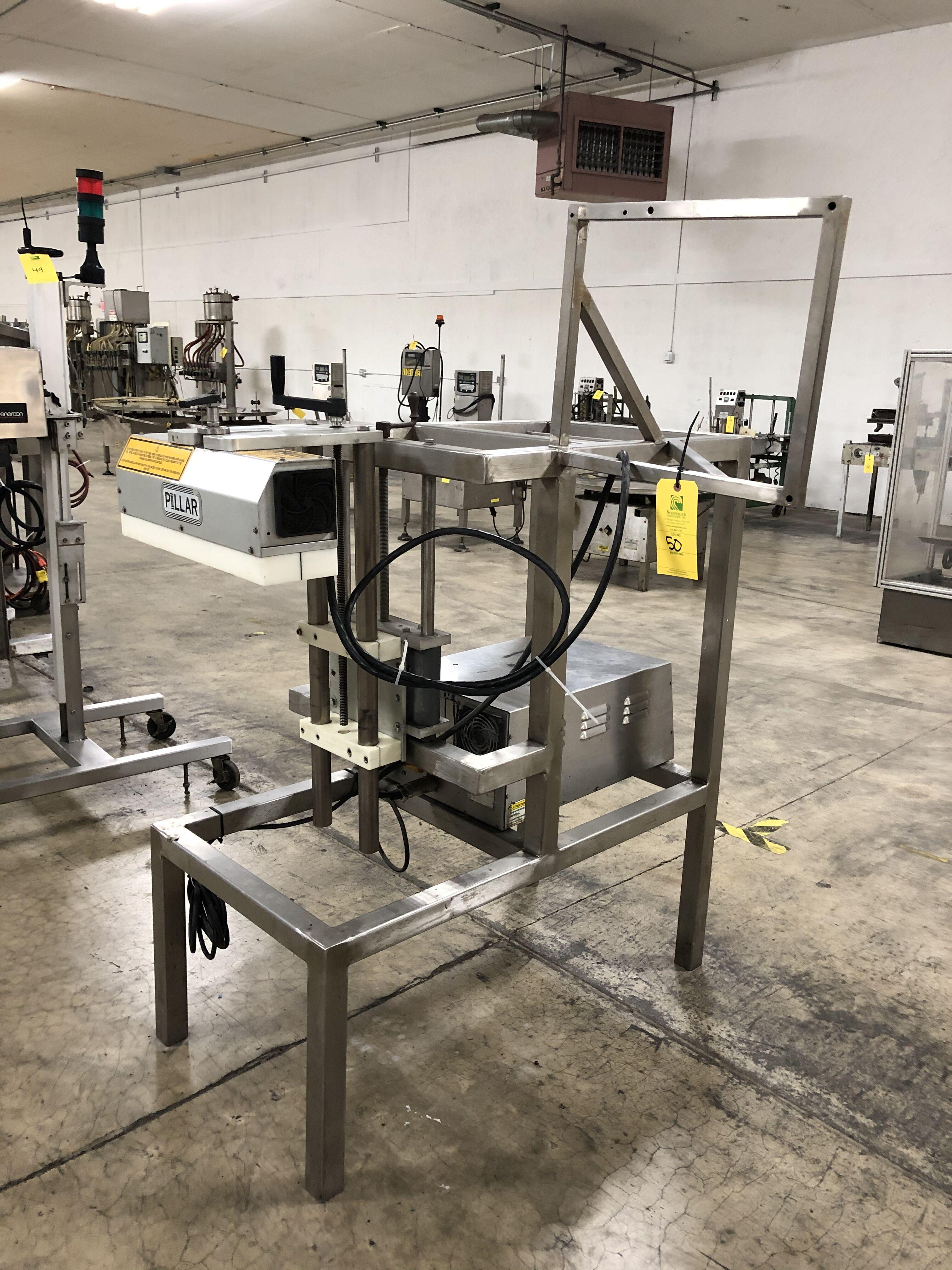 Pillar Technologies Unifoiler Cap Sealing Machine, Model #U1P1001000000, DOM April 2009 - Image 3 of 7