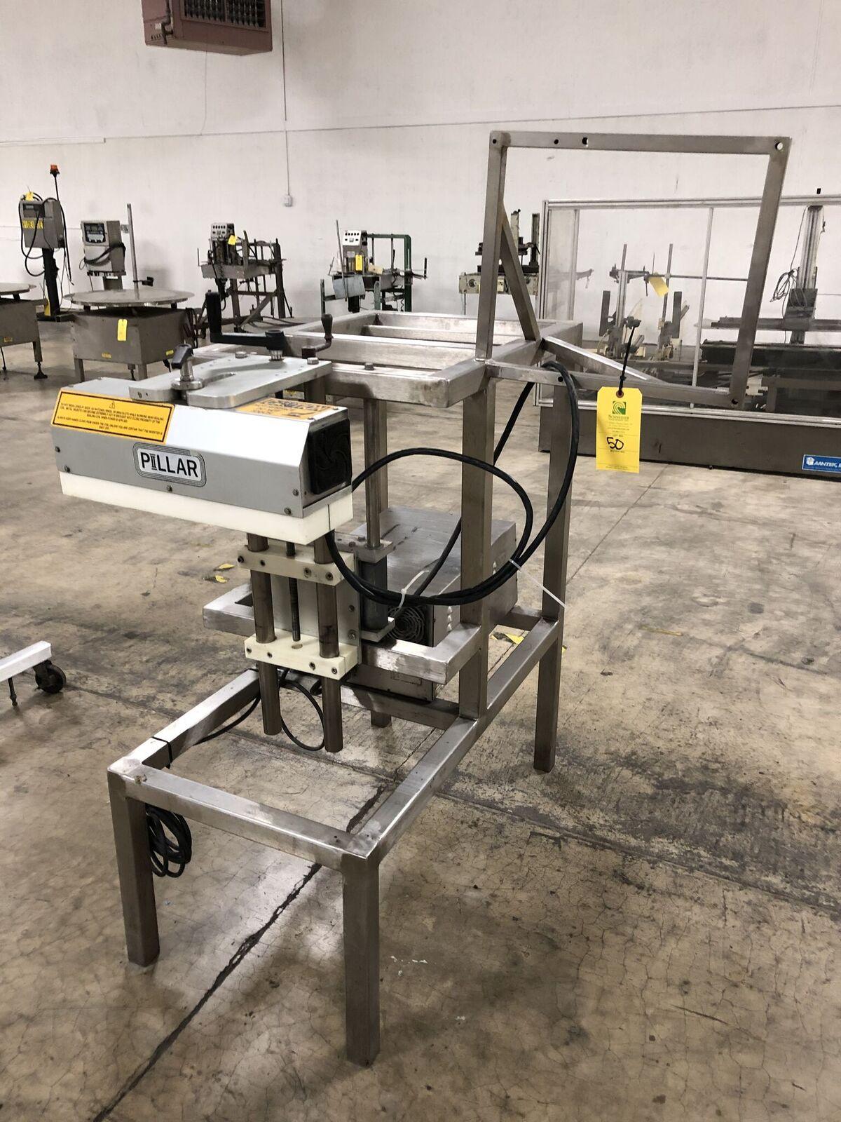 Pillar Technologies Unifoiler Cap Sealing Machine, Model #U1P1001000000, DOM April 2009