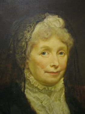 Lot 148 - Attributed to James Northcote (1746-1831) - Oil on canvas - Portrait of an elderly lady wearing a
