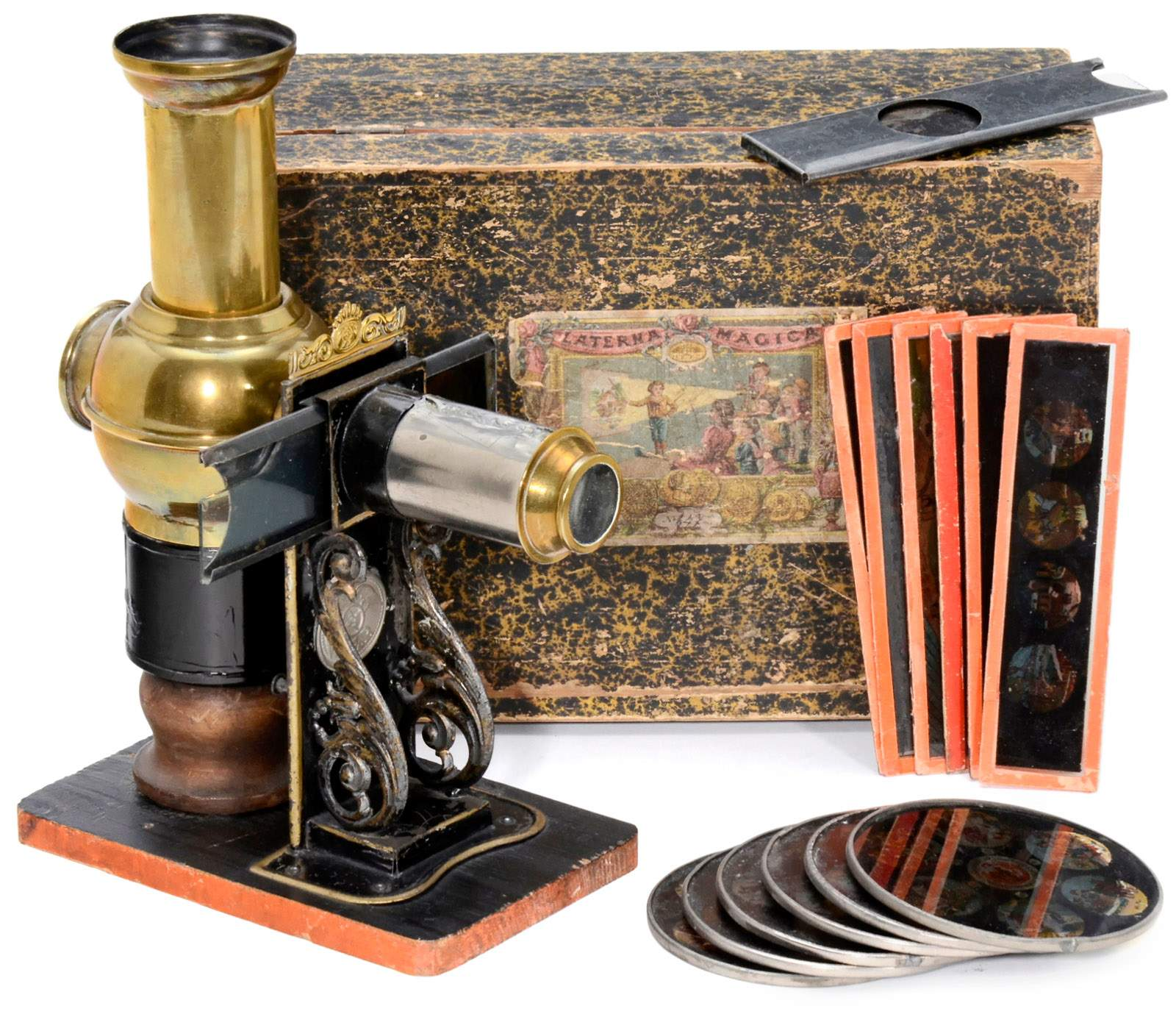 climax magic lantern by ernst plank c 1885 ernst plank nuremberg wonderful little magic lan. Black Bedroom Furniture Sets. Home Design Ideas