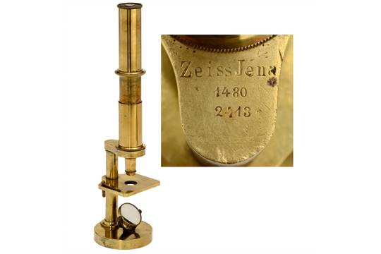 Very early microscope by carl zeiss c carl zeiss jena no