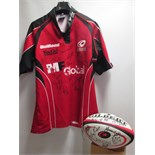 Saracens Kooga Rugby Union Shirt & Gilbert Official Replica Rugby Ball (Size 5). Both Items Signed