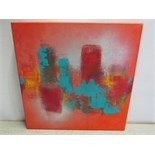 Original Abstract Artwork Signed by the Artist Kerry Bowler. Acrylic & Mixed Media on Canvas with